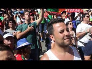Hino Nacional na cerimónia do pódio de WTCC em Vila Real
